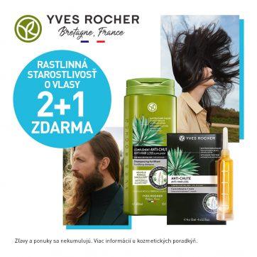2+1 zdarma na starostlivosť o vlasy v Yves Rocher